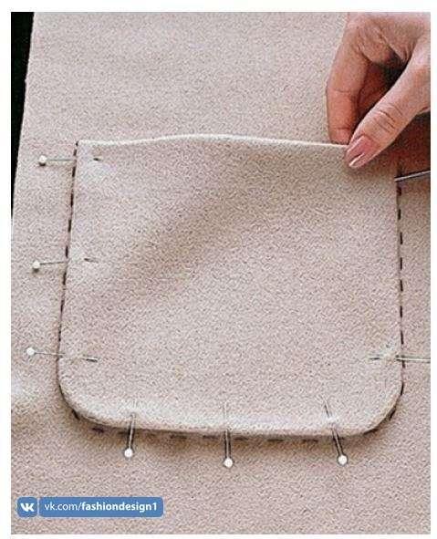 Как пришить накладной карман невидимым швом