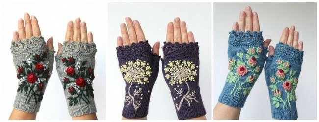 Вышивка на варежках своими руками:мастер-класс и идеи для вдохновения