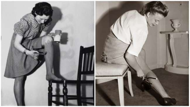 Зачем женщины в 1940-х покрывали ноги краской и рисовали стрелки на голенях карандашом для век