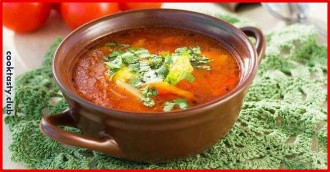 Постный грузинский суп харчо