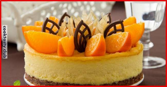 Апельсиновый чизкейк на скорую руку