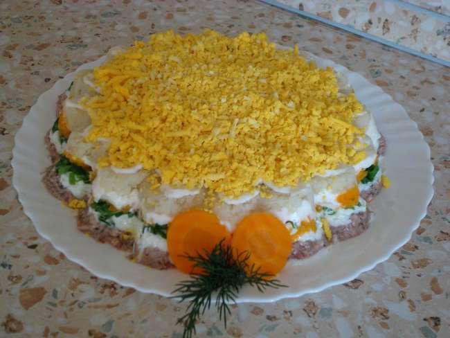 Салат «Мимоза» с картошкой и морковкой: рецепт приготовления с фото