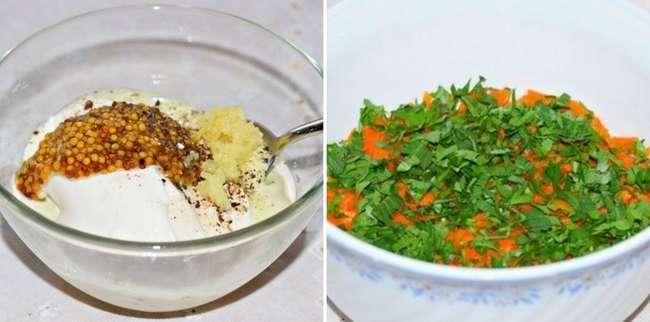 Рецепт салата с печенью и морковью