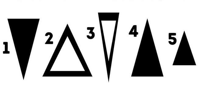 Треугольник, который вывыберете, расскажет оваших главных чертах