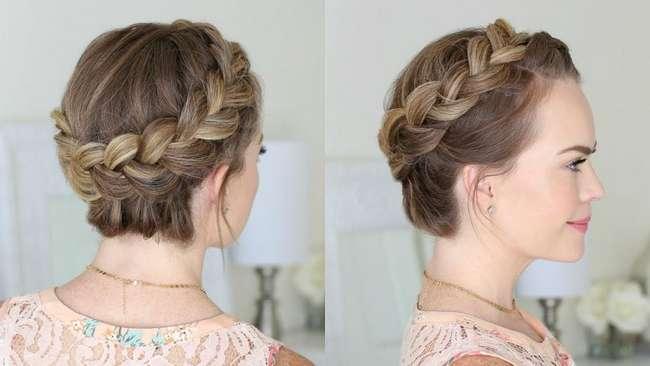 Как заплести косу по кругу головы: пошаговая инструкция с фото