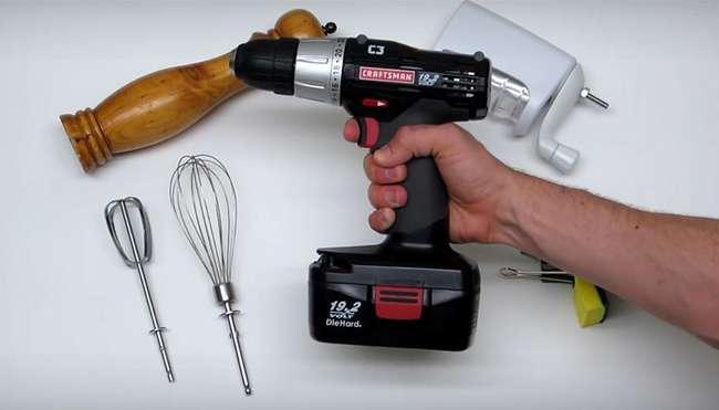 4 нестандартных способа использования аккумуляторной дрели на кухне