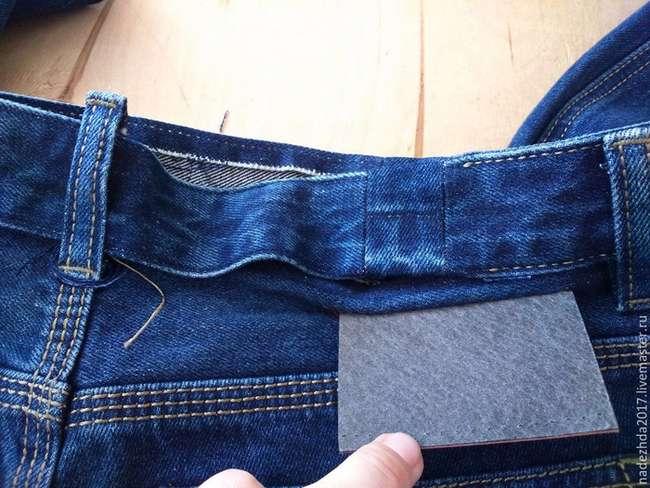 Как увеличить объем джинсов в талии: мастер-класс