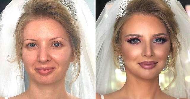 Женихи не узнали своих невест: 10 фото до и после волшебства визажиста