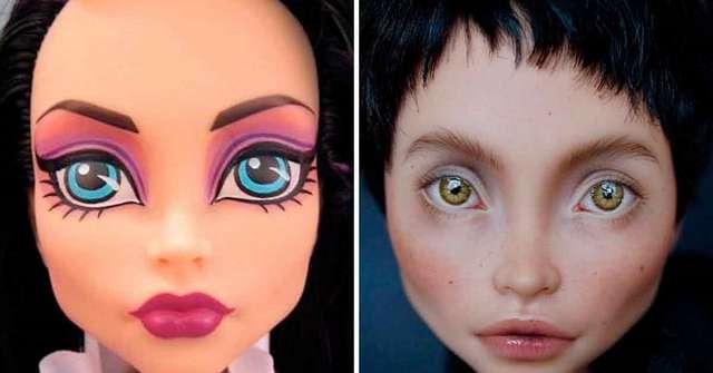 Киевская художница стирает макияж с кукол, чтобы сделать их пугающе человечными
