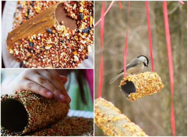 Бигуди и кормушка для птиц: 7 необычных способов использования втулки от туалетной бумаги