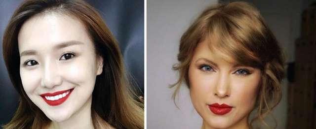 Визажист с помощью макияжа мастерски перевоплощается в звезд, в том числе российских