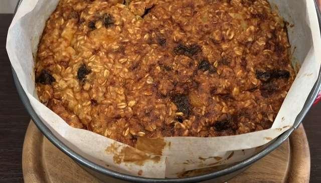 Как приготовить пирог из овсянки без муки и сахара