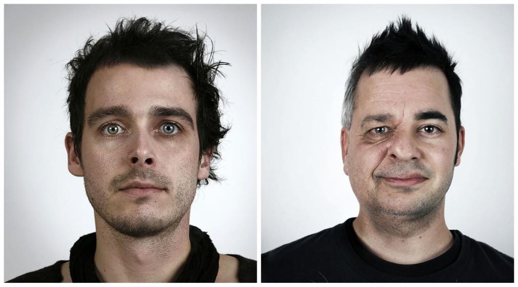 Яблоко от яблони: фотограф демонстрирует, как похожи родные люди