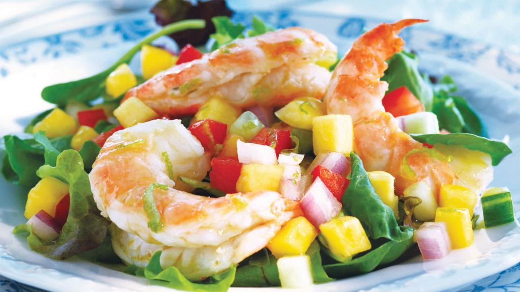 Салат из рукколы с креветками: рецепт приготовления, заправка, ингредиенты