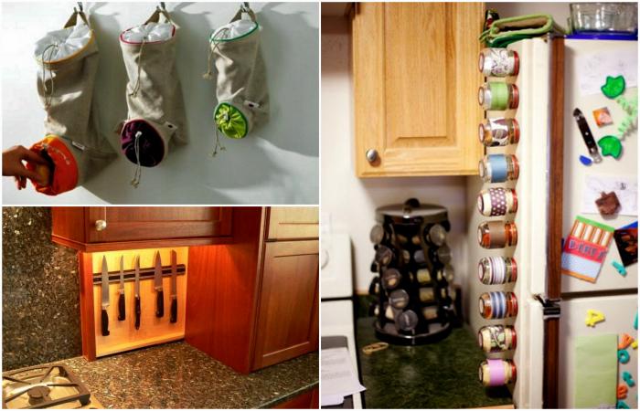 Все по полочкам, мешочкам и баночкам: 15 функциональных систем для хранения вещей на кухне