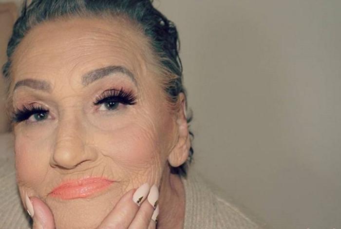 80-летняя бабуля стала моделью для своей внучки-визажиста. Теперь она гламурная красотка (фото)