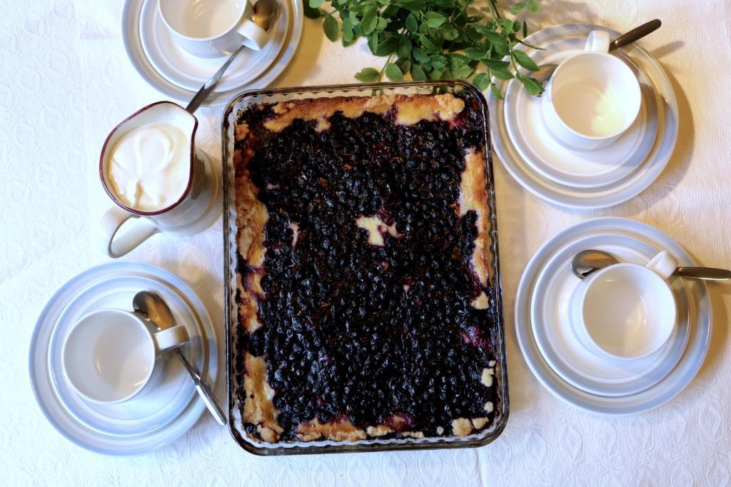 Финский пирог с черникой или голубикой