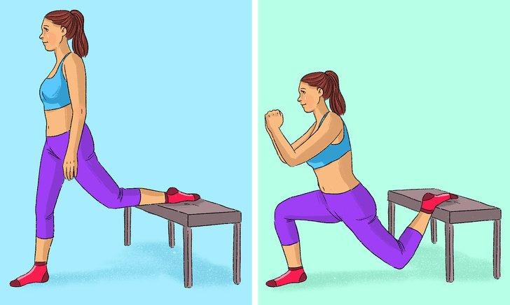 9 упражнений для ног и ягодиц, которые можно делать дома (Некоторые прямо на диване)