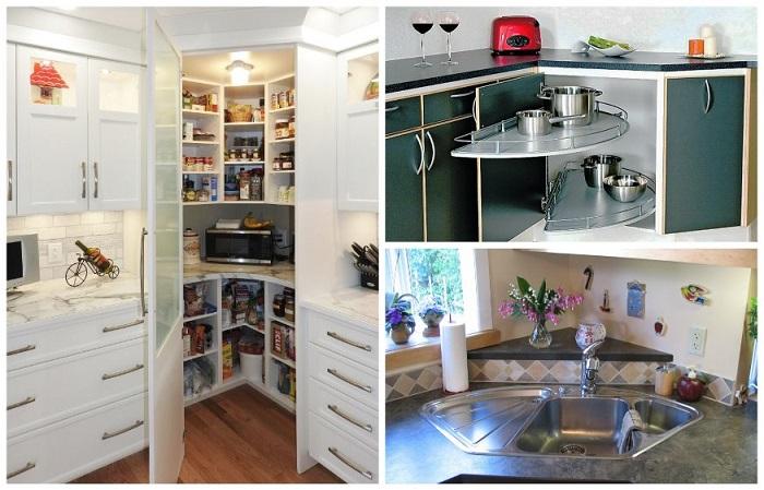 10 идей, как рационально использовать кухонные углы и выжать из них максимум