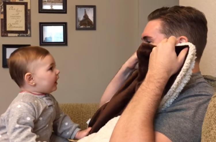 9-месячная девочка не узнала отца, когда он сбрил густую бороду ради работы