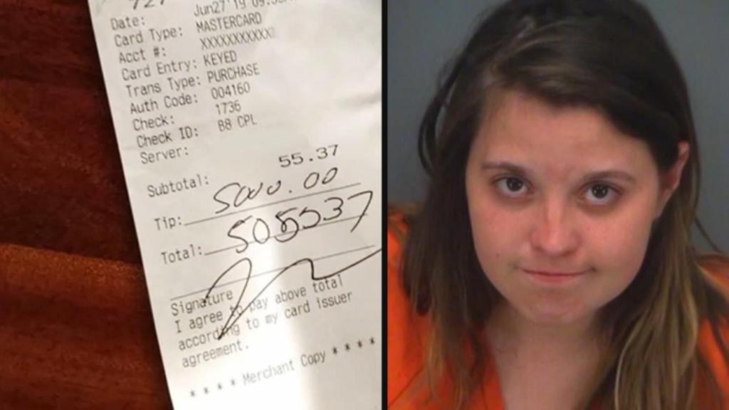 После ссоры с парнем девушка сходила в ресторан на 60 $ и оставила 5000 $ чаевых с его кредитной карточки