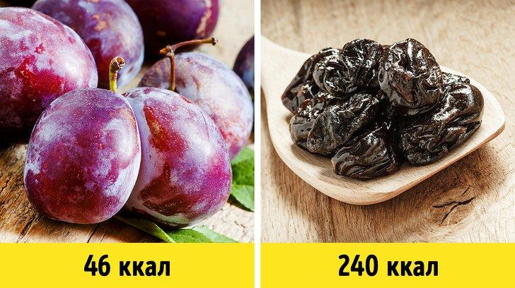 Как меняется калорийность продуктов в зависимости от способа приготовления