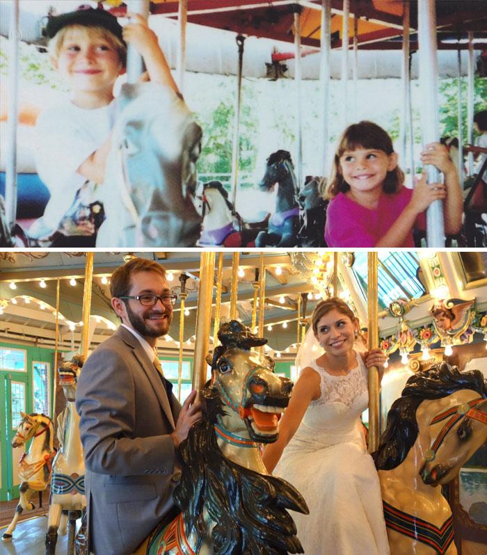 Трогательные фото супружеских пар, сделанные с разницей во много лет