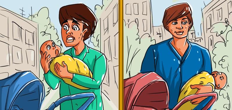 Мамы ответят быстрее: кто из мужчин на картинке держит новорожденного впервые