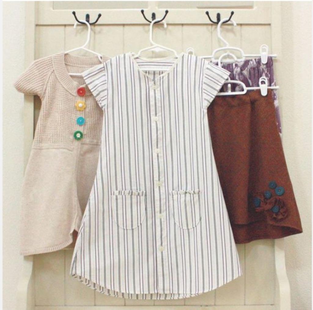 У папы много рубашек? Пора превратить их в крутое платье для дочери