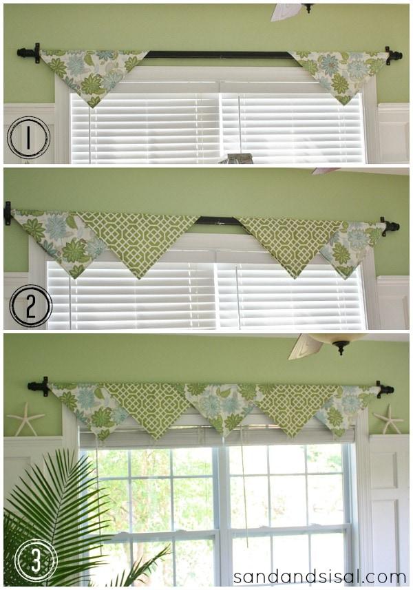 Проще не придумаешь: декоративные шторы без шитья