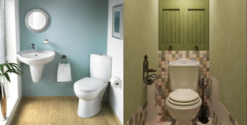 Идеи для оформления стены за унитазом
