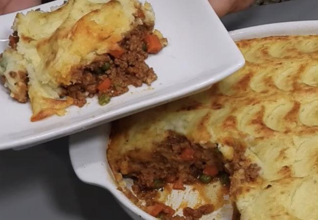 Охотничий пирог: ужин из картошки и мяса без стряпни