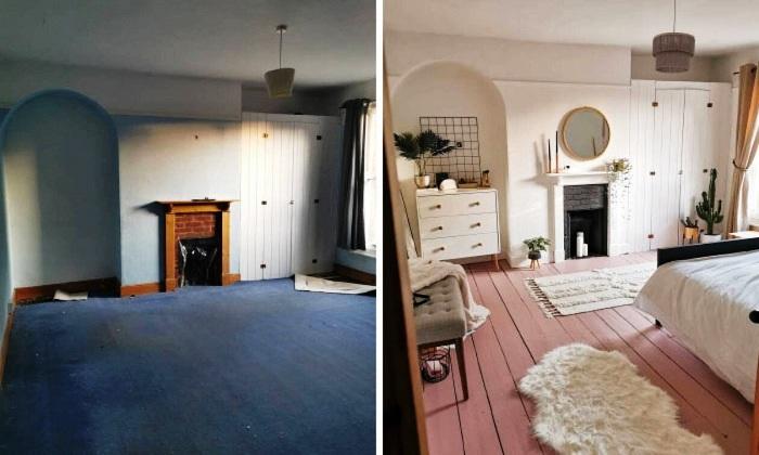 Американская модель самостоятельно изменила комнату до неузнаваемости за 5 дней