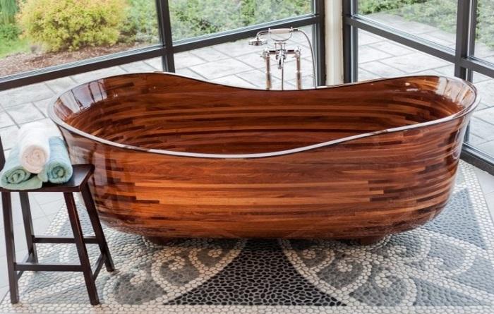 Американец создал коллекцию… деревянных ванн, которые можно спутать с произведениями искусства