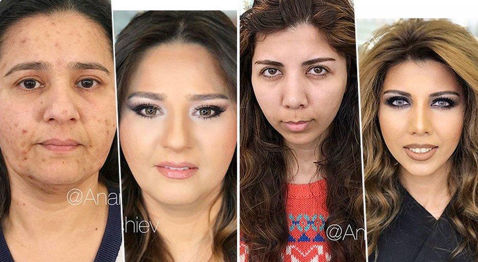Скинуть 20 лет: стилист из Баку «стирает» годы с помощью макияжа