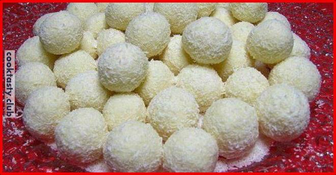Домашние кокосовые конфеты «Рафаэлло»
