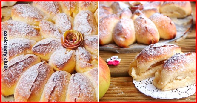 Вкуснейший и очень красивый яблочный пирог «Отрывной»
