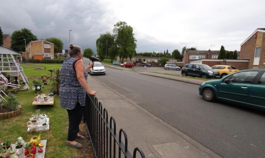 Бабушка придумала простой способ, заставить водителей соблюдать скоростной режим