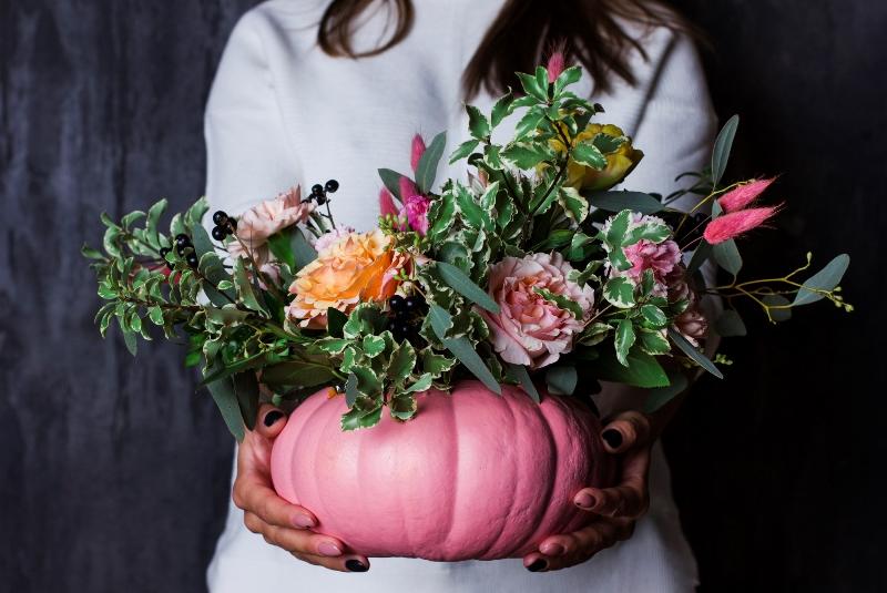 Как из тыквы сделать вазу