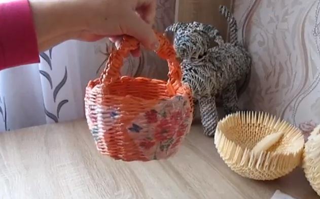 Пошаговое плетение сумок из газетных трубочек своими руками