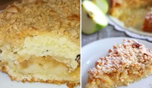 Инструкция по приготовлению яблочного пирога с ореховой крошкой