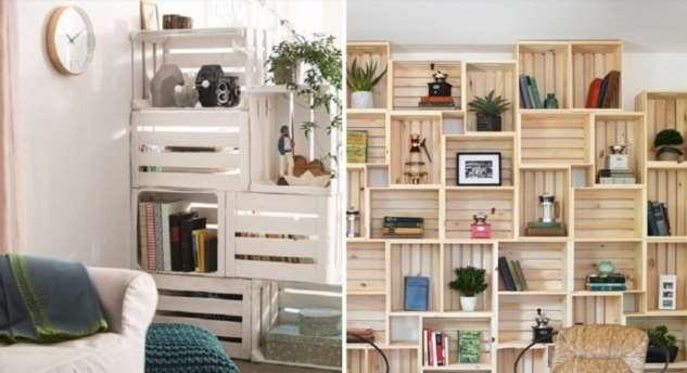 Как сделать мебель из деревянных ящиков