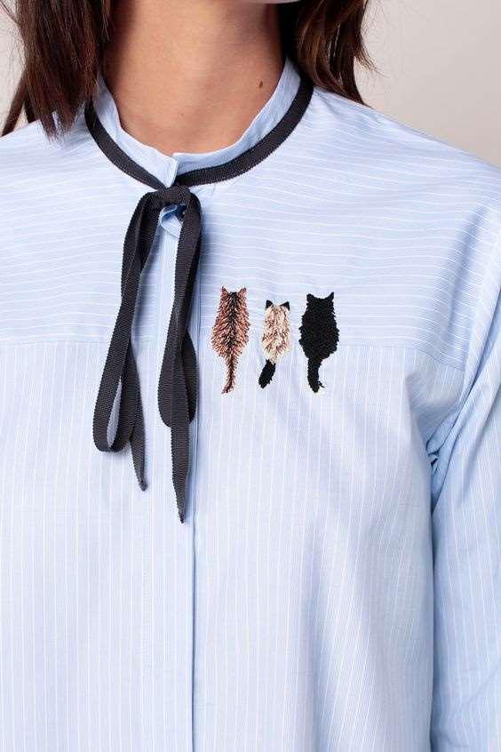 Блузки с современной вышивкой: стильно и оригинально