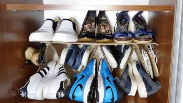 Как компактно и удобно хранить обувь, не затрачиваясь на дорогие органайзеры